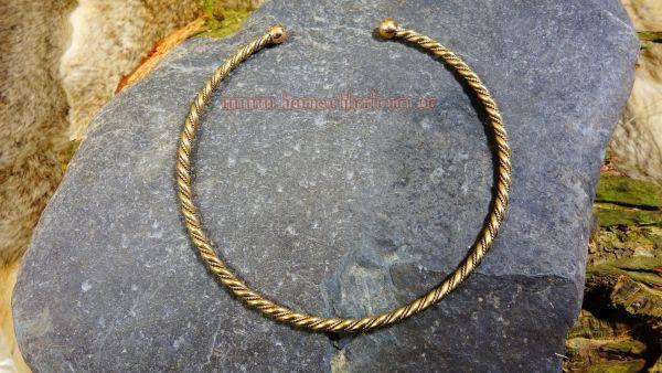 Torques für Frauen TORALF Wikinger Schmuck Handgearbeitet aus Bronze