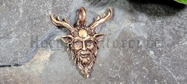 Anhänger CERNUNNOS Waldgott aus Bronze