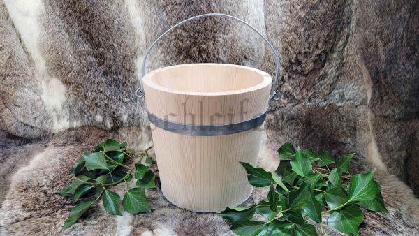 Eimer, 5 Liter aus Holz 22 cm Durchmesser