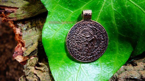 Anhänger BRAKTEAT Odin auf Sleipnir aus Bronze