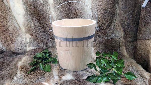 Eimer, 10 Liter aus Holz 26,5 cm Durchmesser