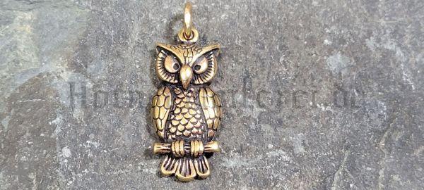 Anhänger OWL CAPONE Eule der Nacht aus Bronze