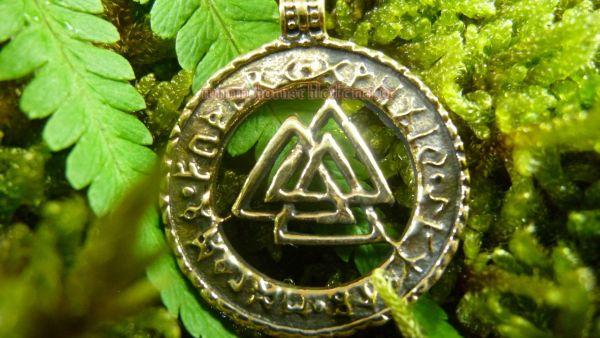 VALKNUT Wotansknoten Anhänger aus Bronze