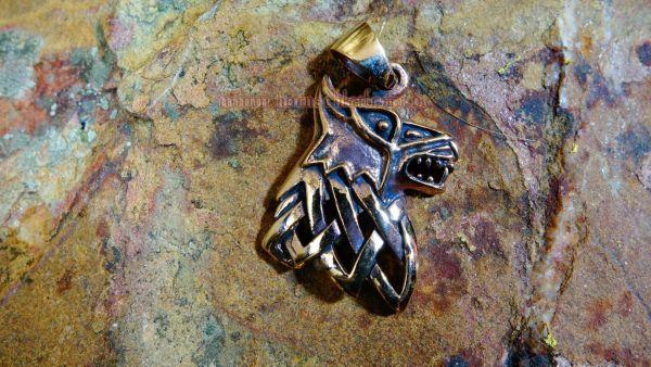 Anhänger FENRIR Lokis Wolf aus Bronze