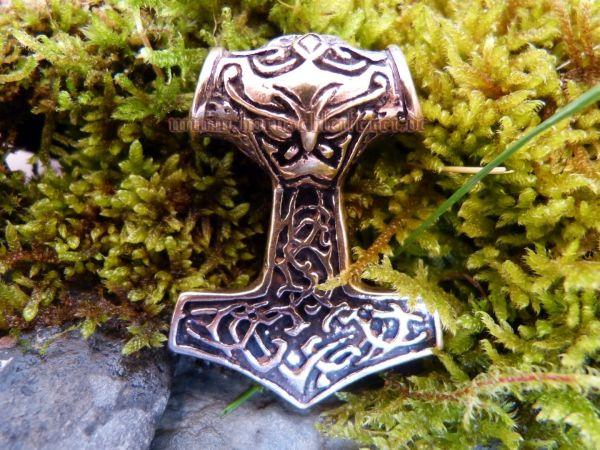 MJÖLNIR großer Thorshammer aus Bronze
