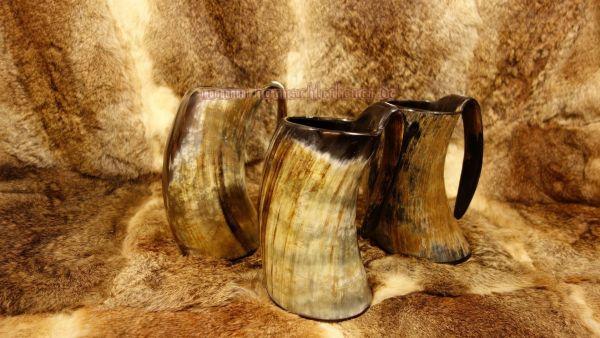 Hornbecher mit Henkel 1000 - 1500 ml aus echtem Horn